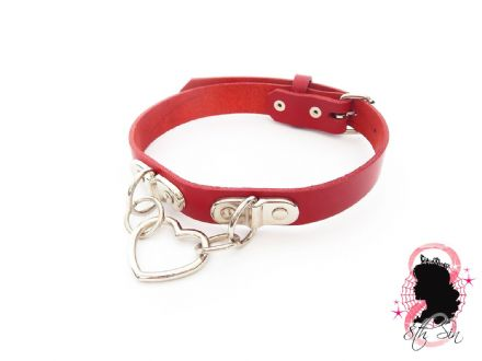 Red Bound Heart Choker